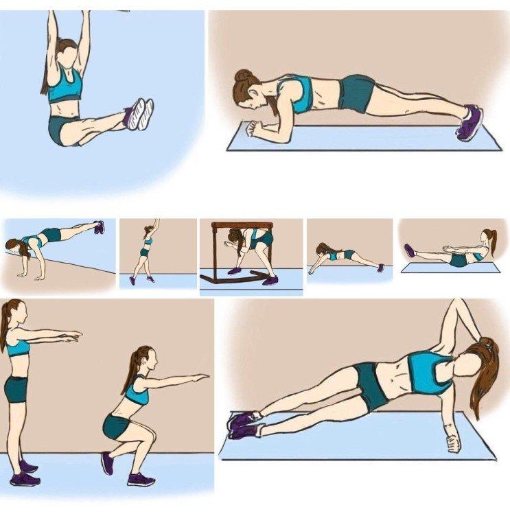 Как делать зарядку чтобы похудеть убрать живот