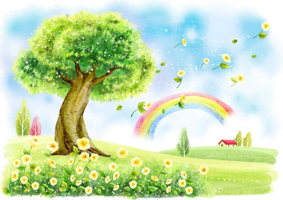 Смешной рисунок про природу, днем красоты открытка