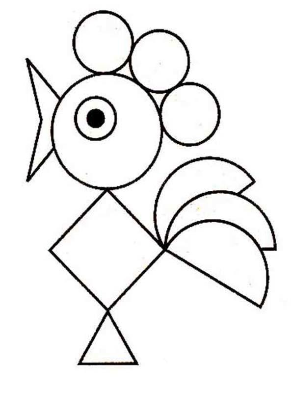 Рисунок из геометрических фигур картинки