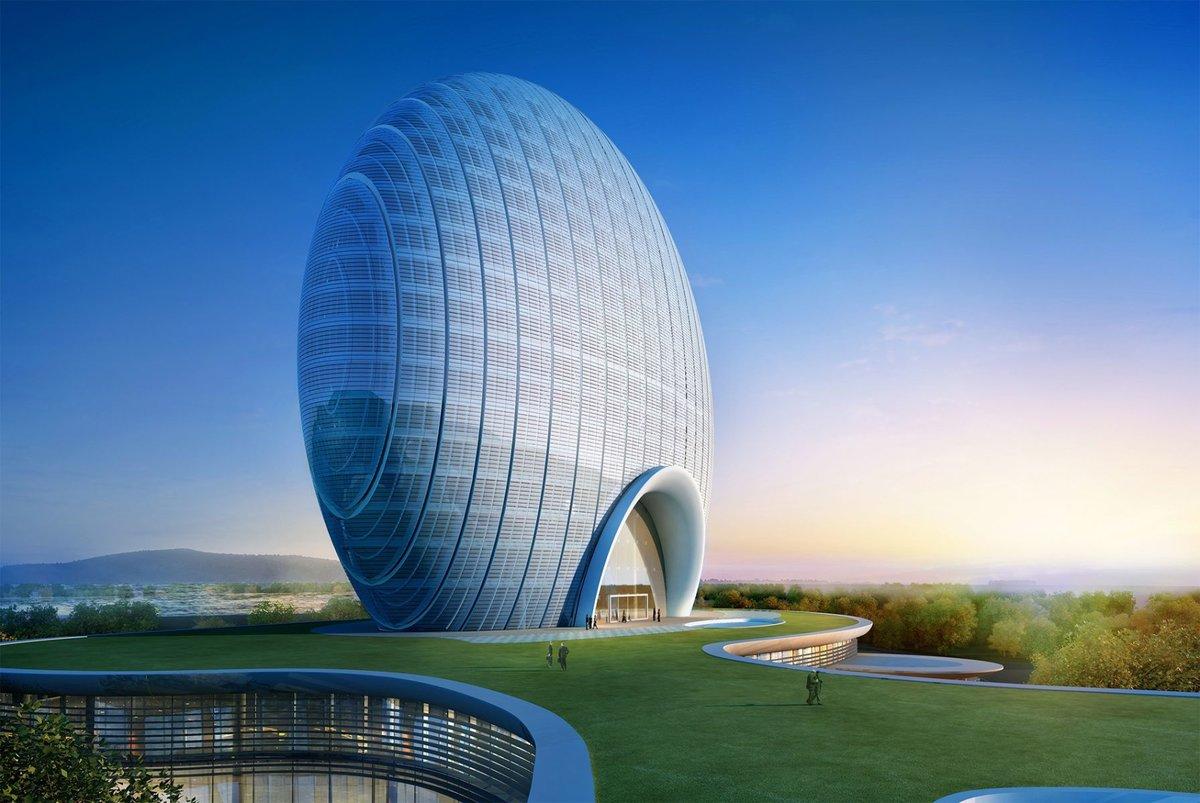 Картинка здание будущего