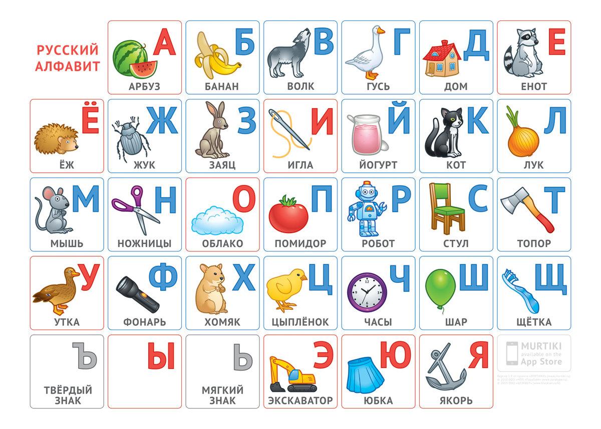 приложение азбука с картинками был простым