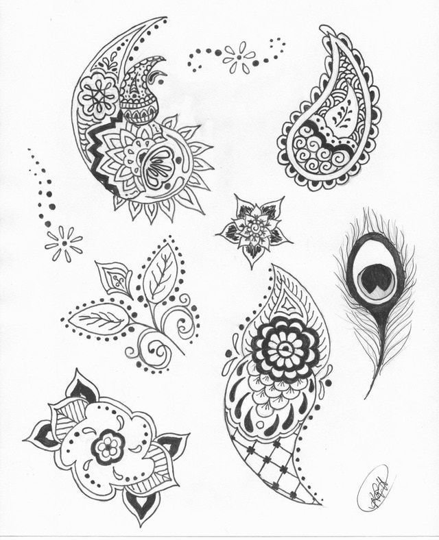 Easy Henna Designs For Beginners Step By Step Google Searc Card