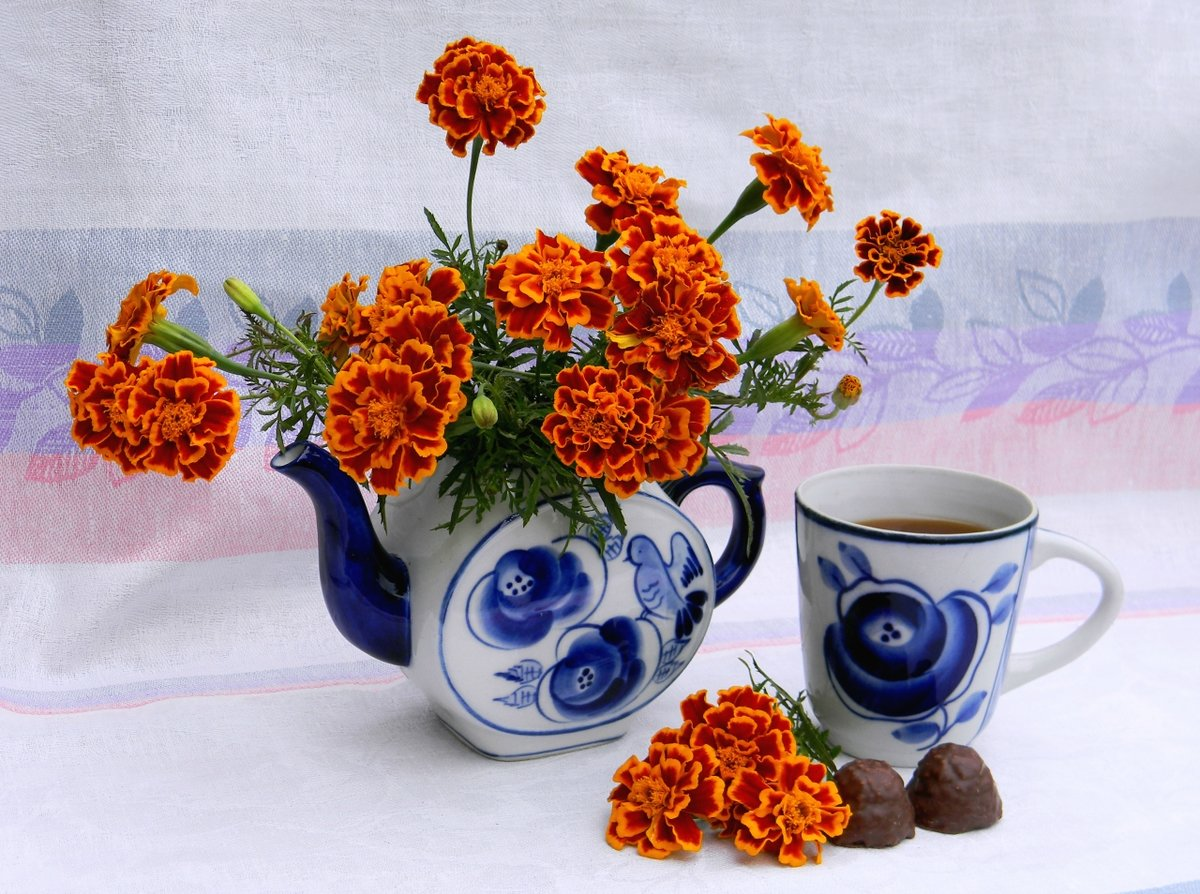 Картинки чай цветы осень три