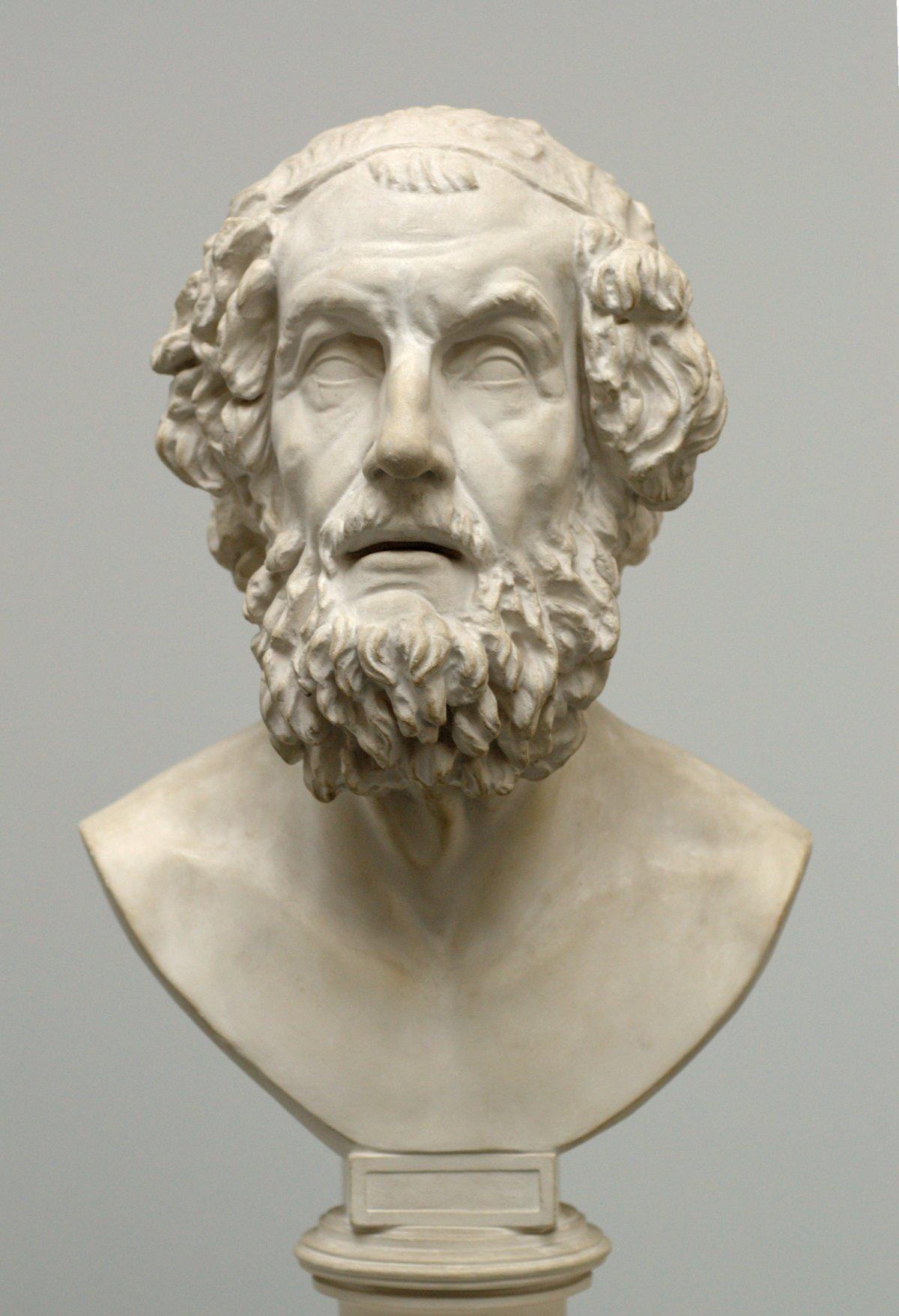Бюст Гомера в Музее классической скульптуры