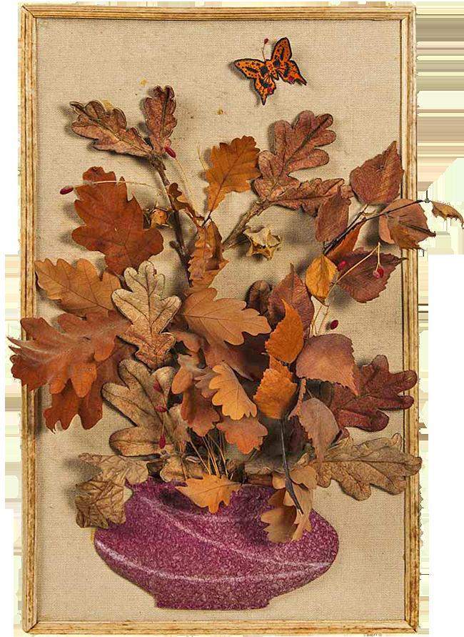 Открытки из листьев фото