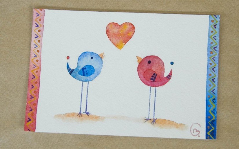 Детские рисунки на открытки своими руками, открытка открытка новым