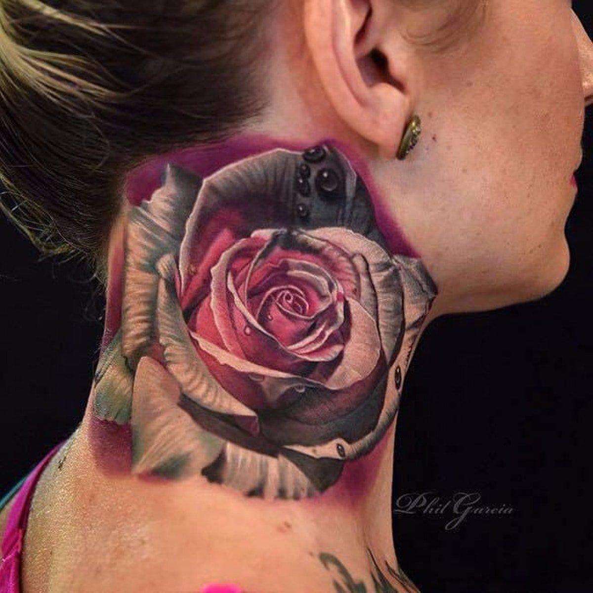 55 Beautiful Flower Tattoos On Nape Card From User Yambulatovare