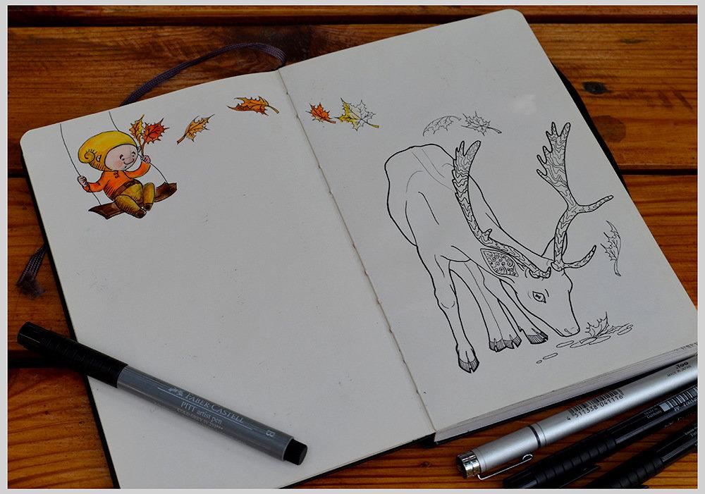 Картинки, веселые рисунки в блокноте