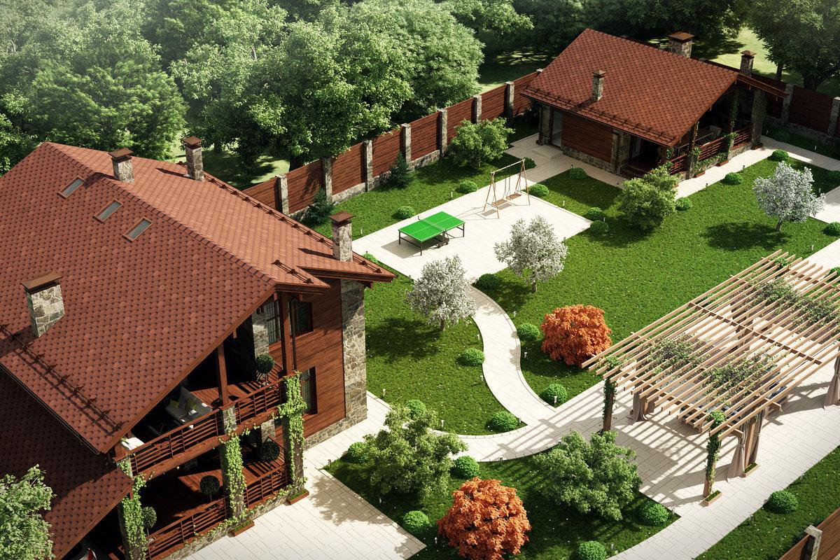 Дизайн участка загородного дома своими руками фото