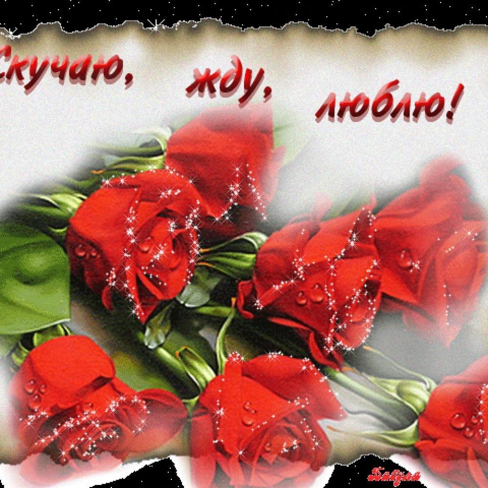 Открытки скучаю по тебе и люблю тебя анимации с розами
