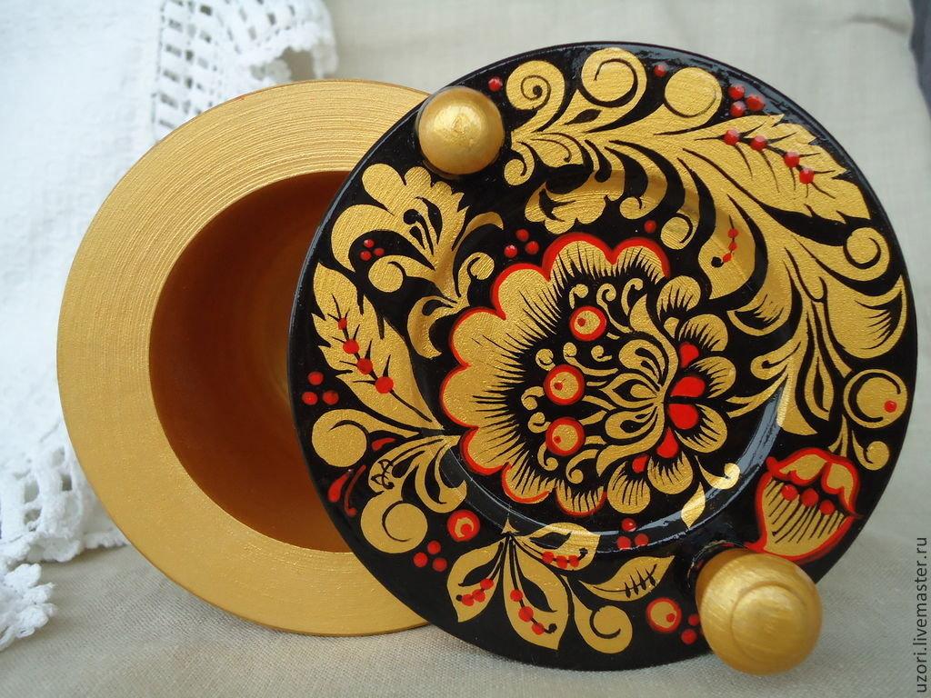 золотая хохломская роспись картинки
