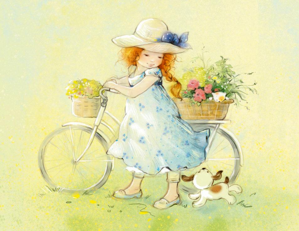 Анимашки, иллюстрация открытка