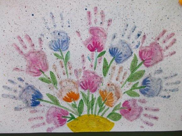 Для оформления, открытка для мамы на день рождения красками