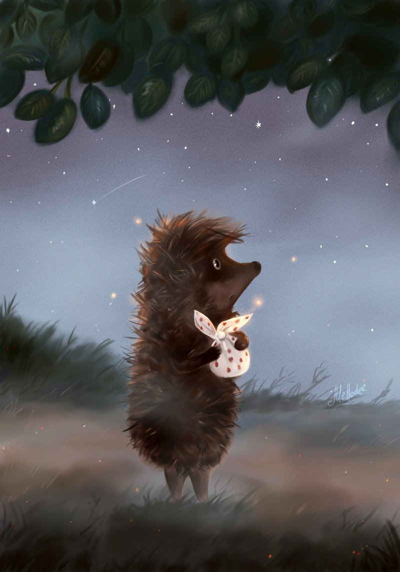 Прикольные картинки медвежонок и ежик