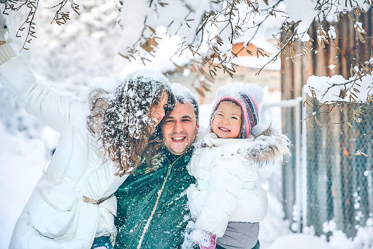 Семья фото красивые фотографии зима