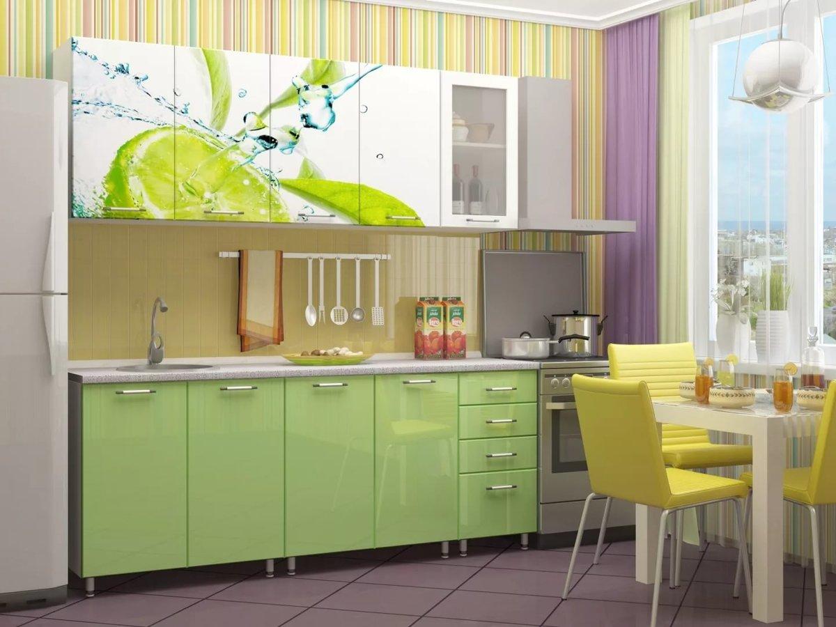 кухонная мебель с фотопечатью вид напитка морских