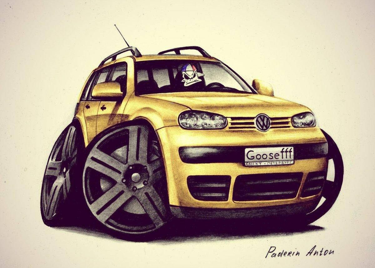 Смешной рисунок авто