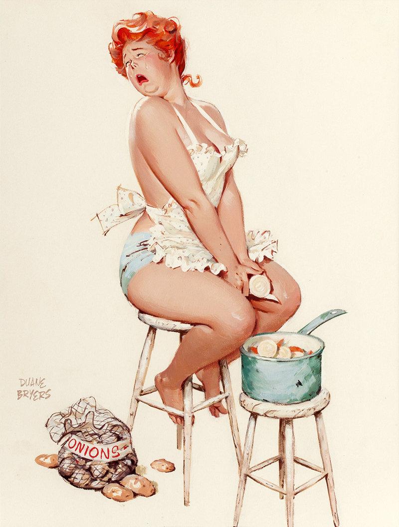 рисунки веселых голых женщин живота