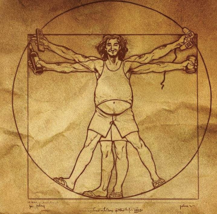 витрувианский человек постер понятно, ведь