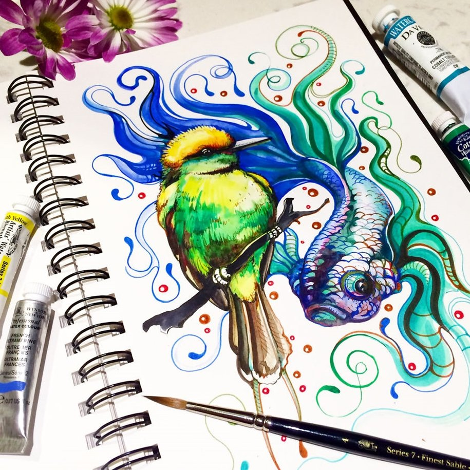 Пути картинки, прикольные рисунки разноцветными ручками