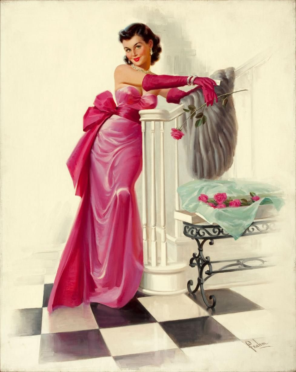 Открытки с изображением женщин, телефон