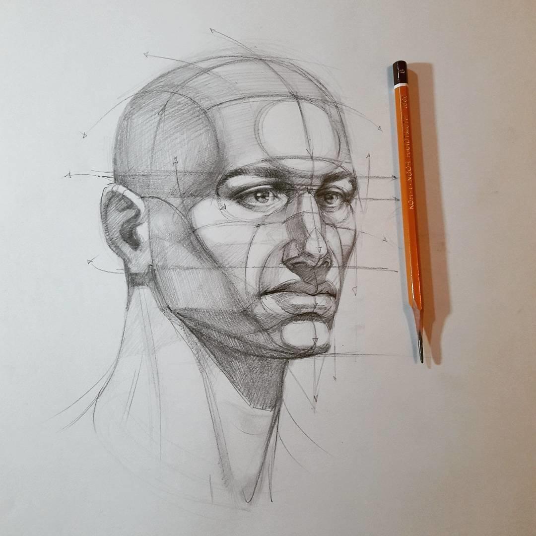 тем, как картинки рисунка головы карандашом доводилось слышать