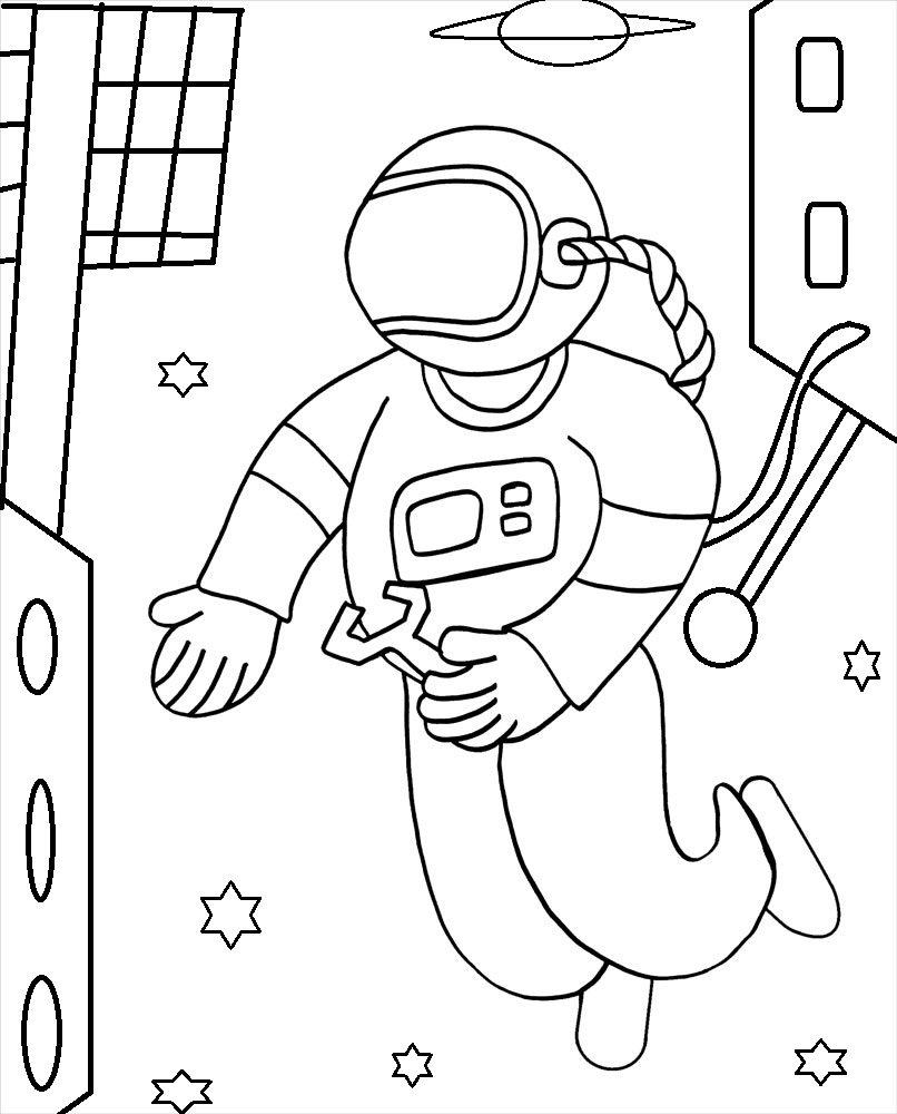 free astronaut printables - 806×1000