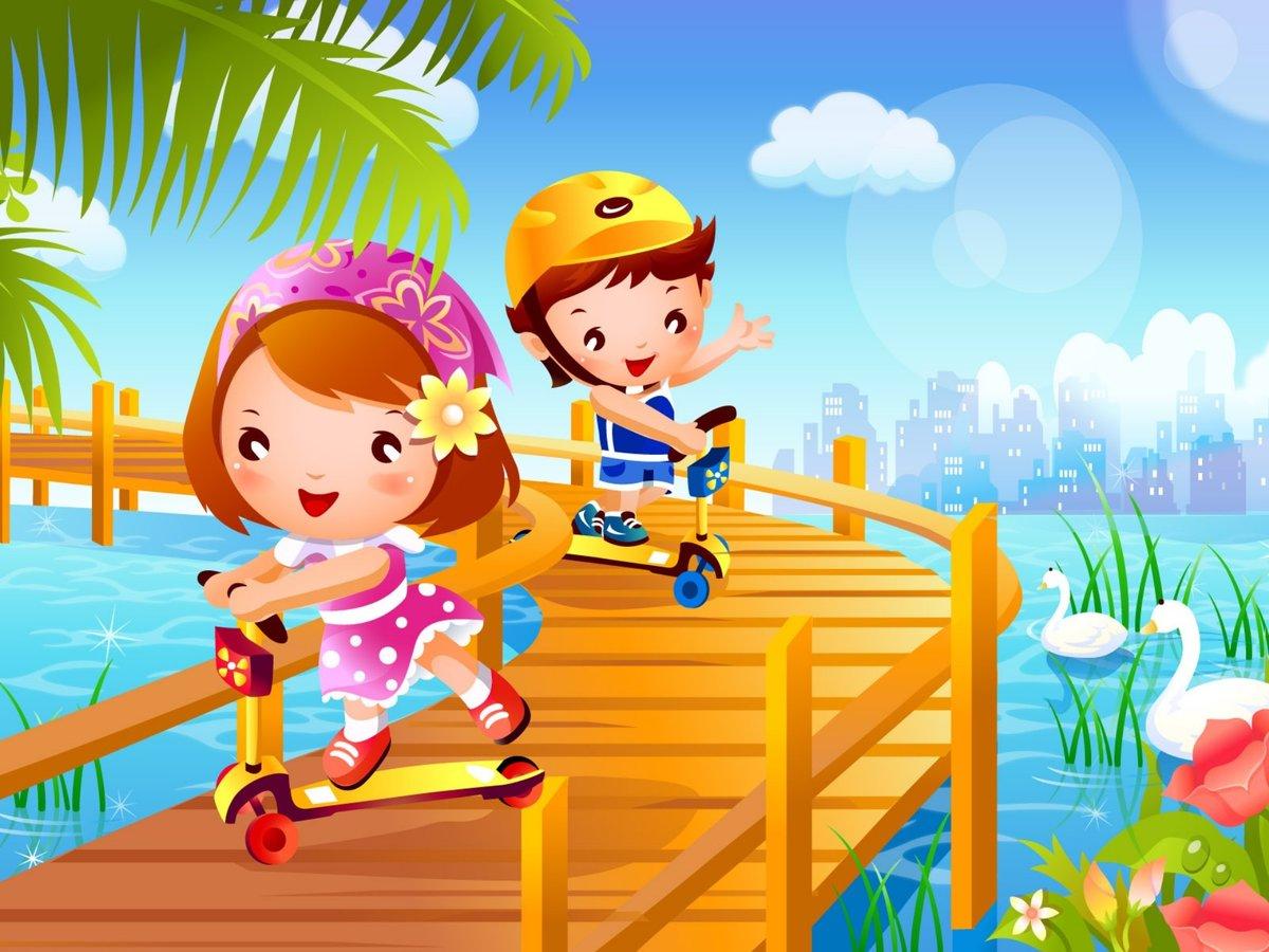Новом, картинки для детей лето и дети