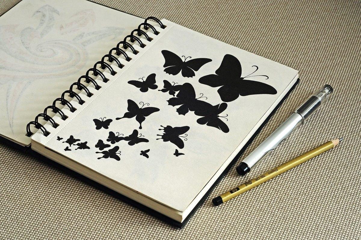 Прикольные рисунки для блокнота, надписью