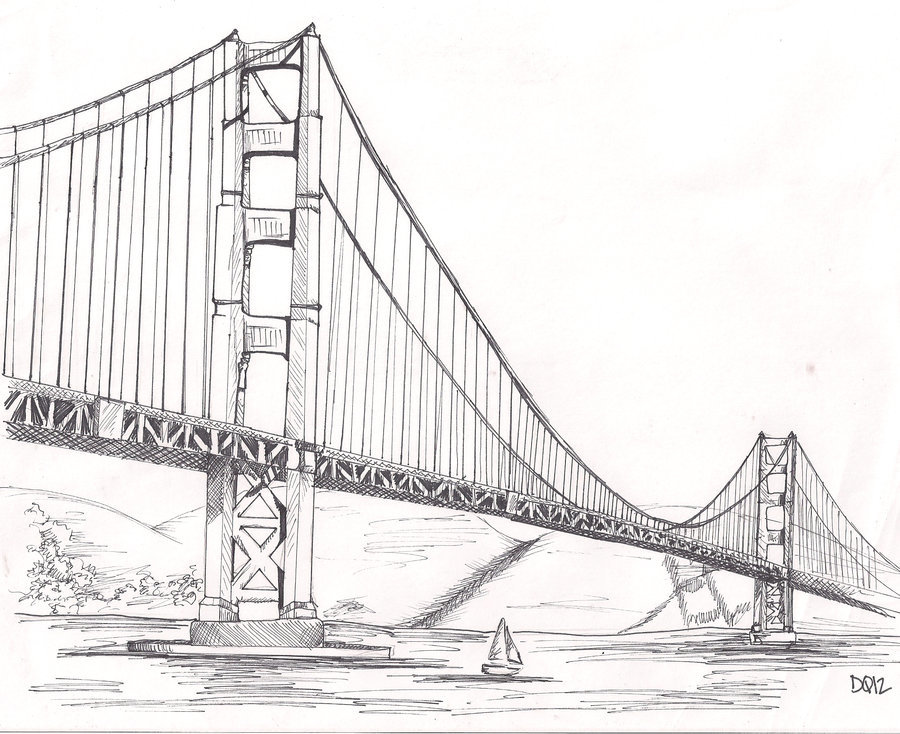 Мост раскраска картинки
