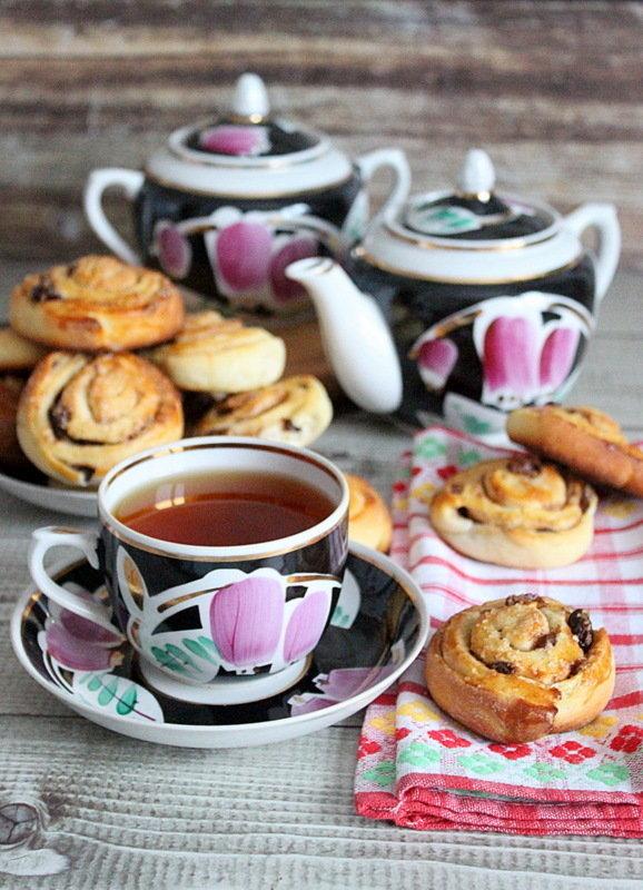 фото чай с плюшками хоть небольшая, весь