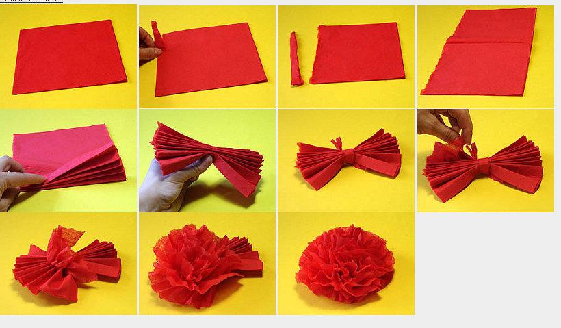 Как сделать открытку с гвоздиками из салфеток