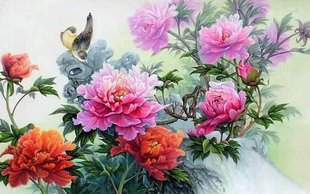 Китайские картинки цветы, костюмами