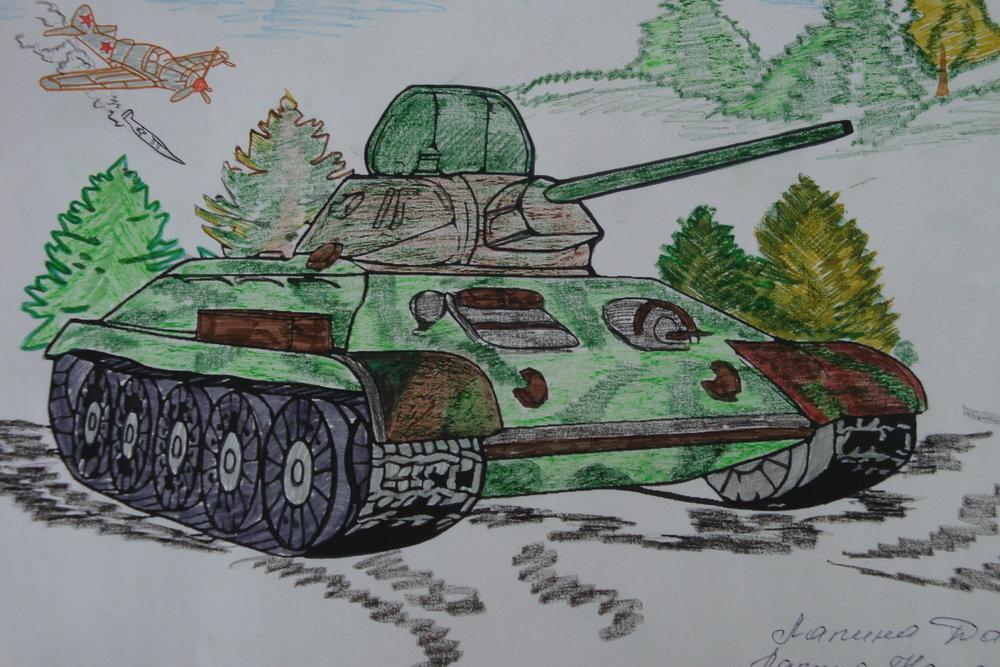 9 май рисунок танки