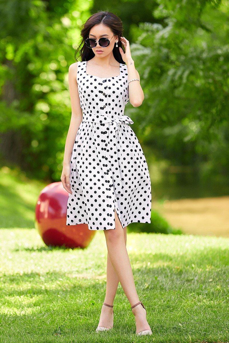 модные платья в горошек фото вот утром