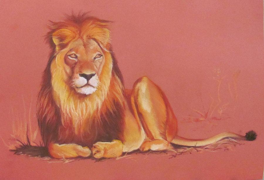 рисунки животных лев меня