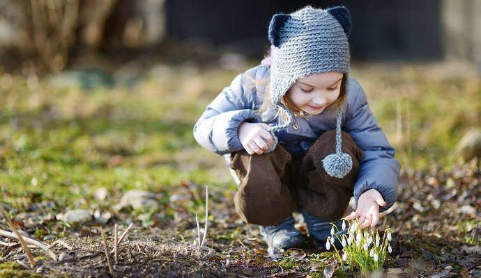 Недавно в садике было открытое занятие на тему весна.