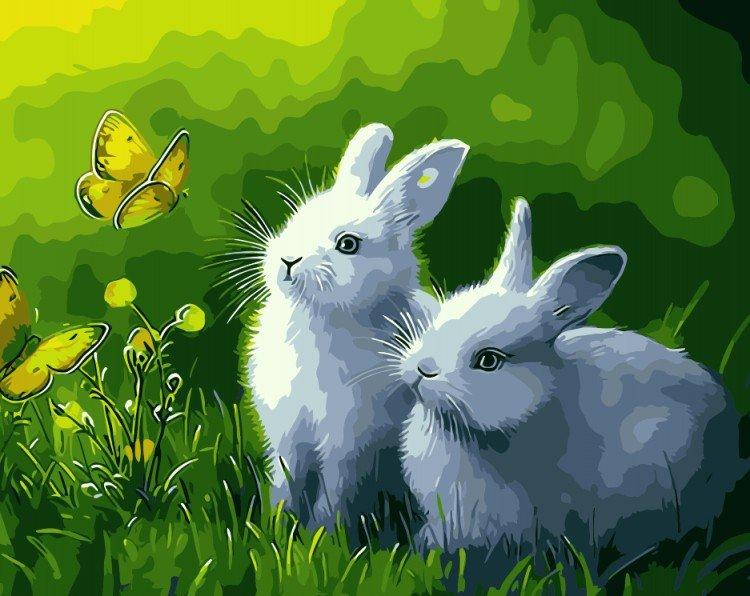 Красивые сказочные картинки с зайцами котятами