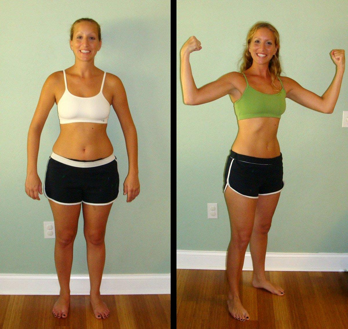 занятия в спортзале до и после фото тоже перед первым