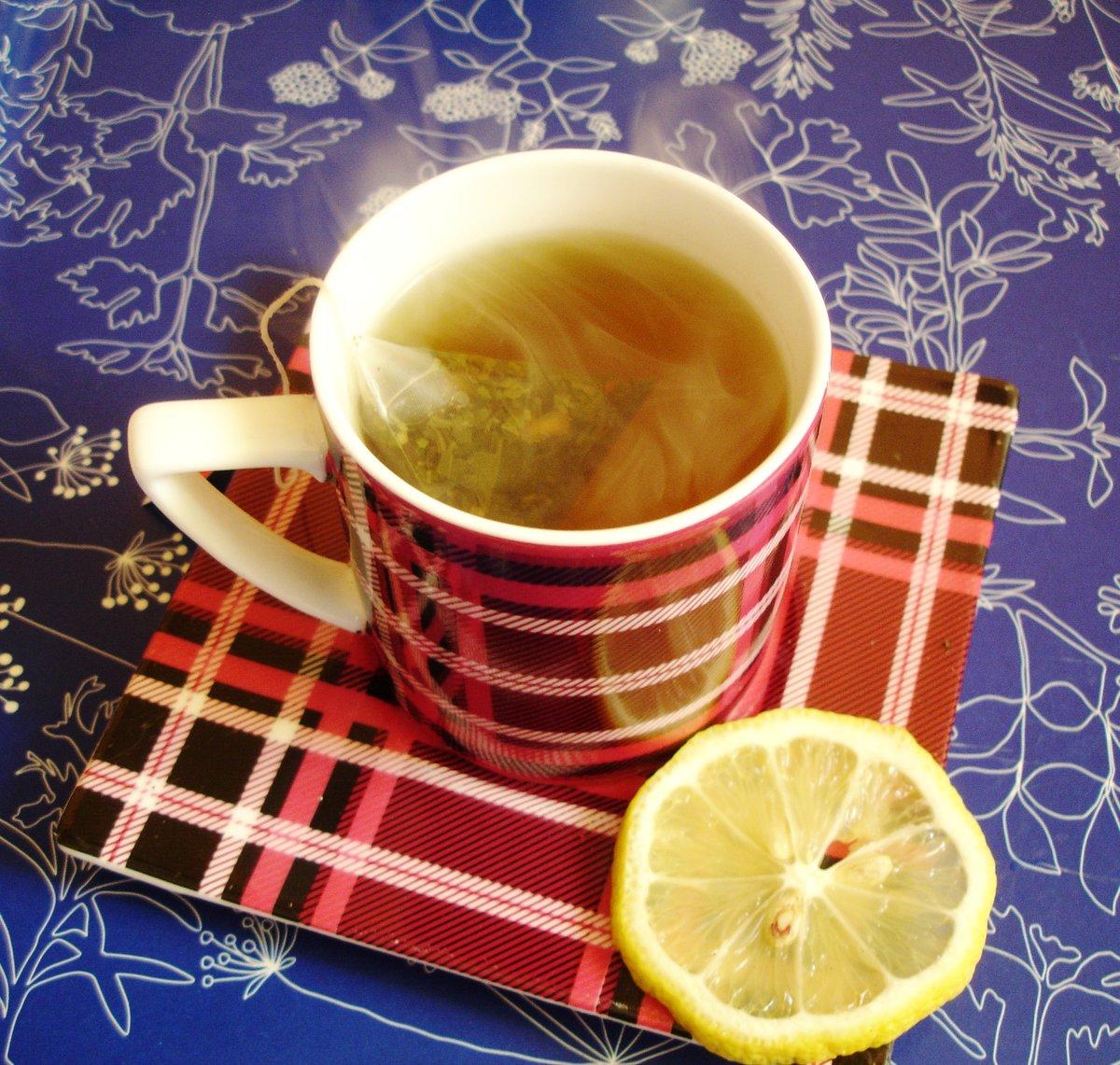 Чай с лимоном очень красивые фото