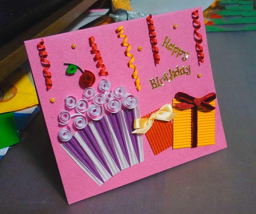 Открытки с подарками своими руками на день рождения, статусы