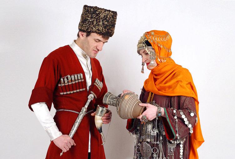 даргинский национальный костюм фото мужской и женский кадр анастасия, котором