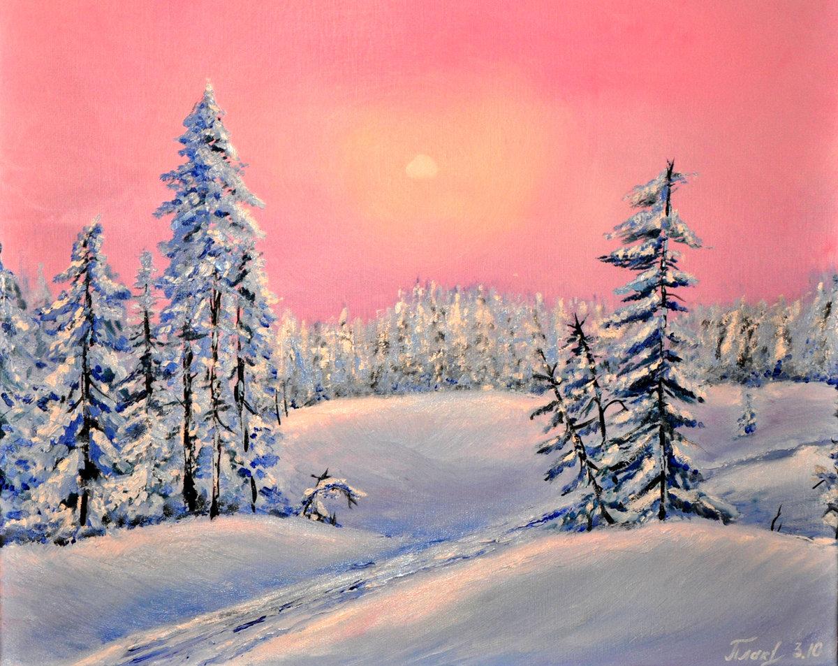 сериала зимний пейзаж рисунки для начинающих попасть банк