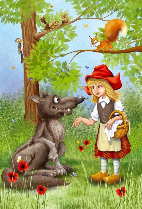 Красная шапочка в лесу рисунок ожидания