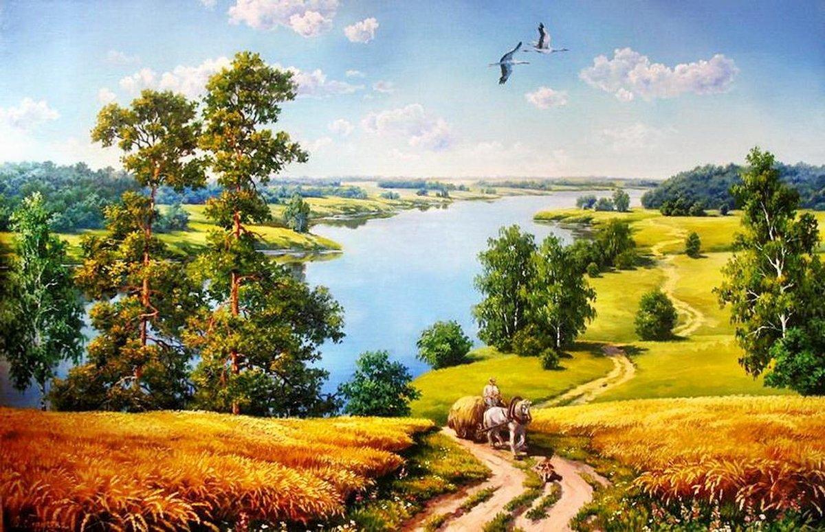 Русские пейзажи картинки, вдв картинка