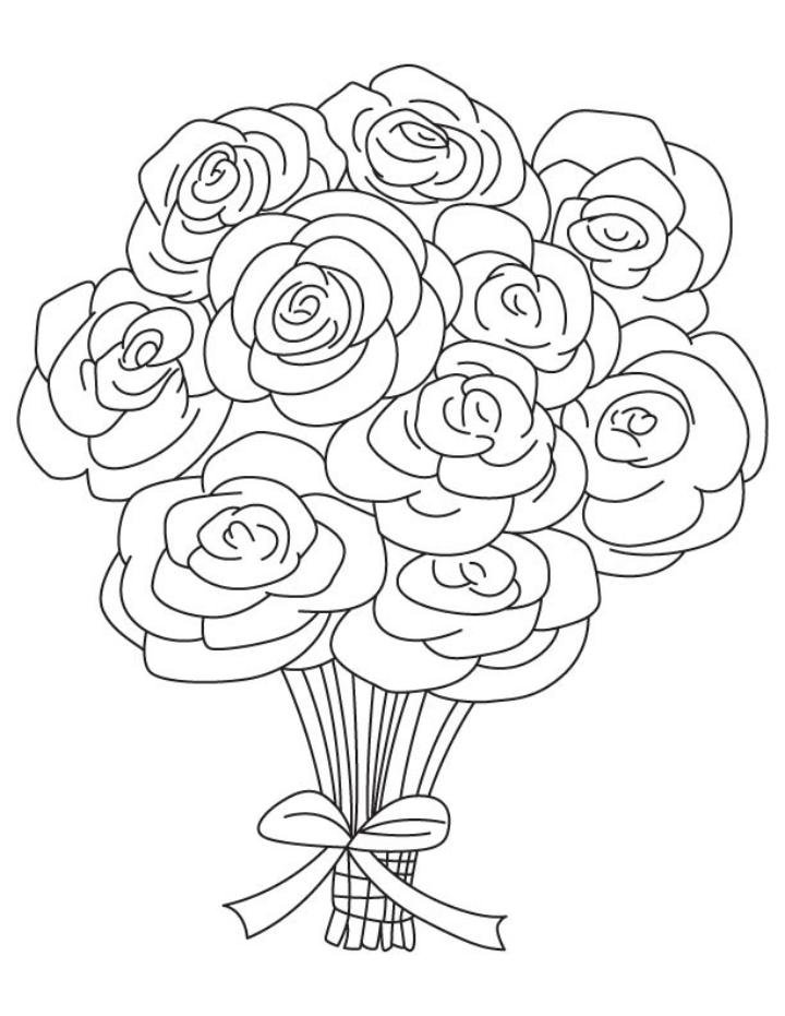 Quot Bouquet Of Roses Coloring Pages Coloring Pages For Free