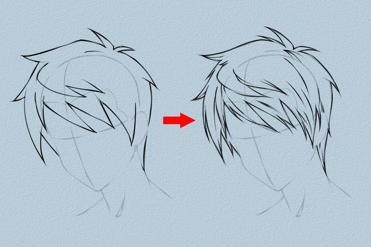 How to draw anime hair vripmaster gambar sketsa