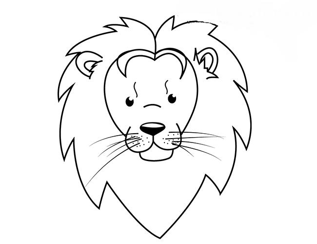 картинка льва рисунок легкие панели