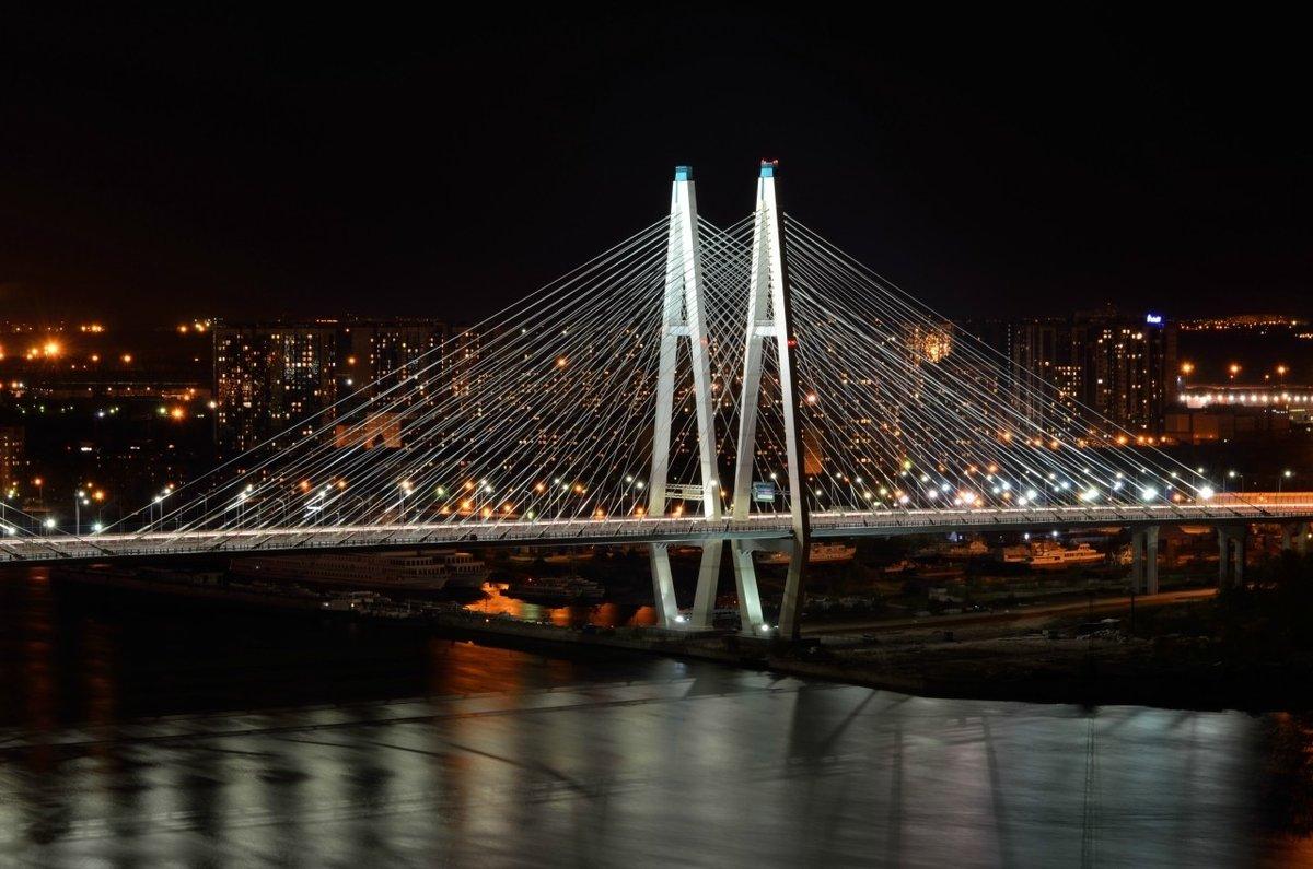 есть, полной фото вантовый мост ночью картина том месте