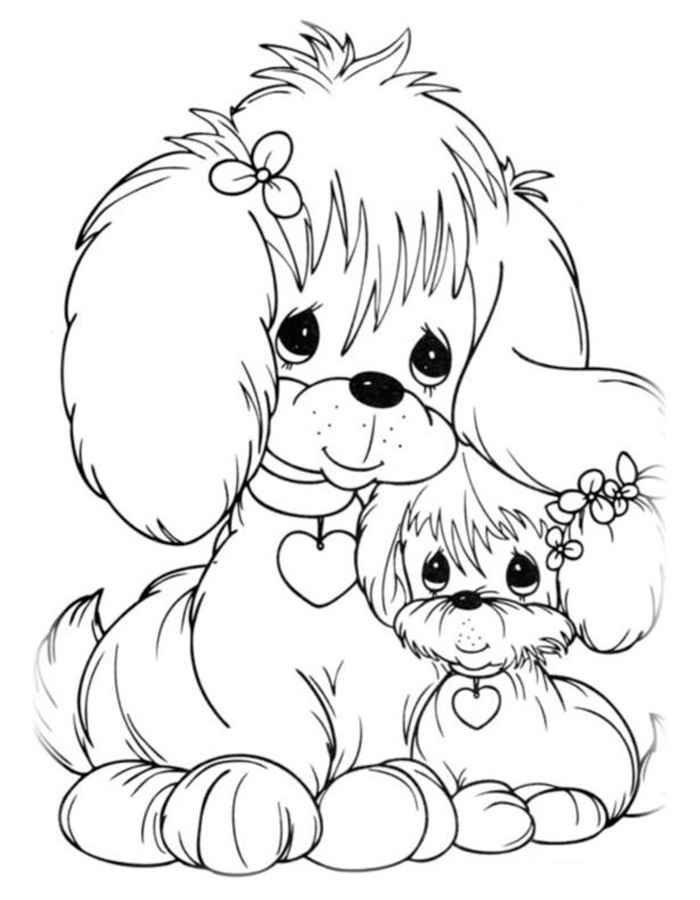 Картинки, картинки раскраски с собаками и щенками